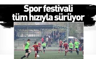 Spor festivali tüm hızıyla sürüyor