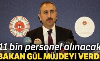 Adalet Bakanlığına 11 bin personel alınacak