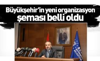 Büyükşehir'in yeni organizasyon şeması belli oldu