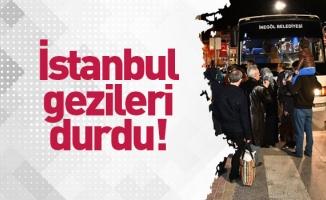 İstanbul gezileri durdu!