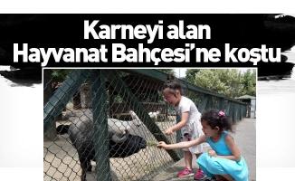 Karneyi alan Hayvanat Bahçesi'ne koştu