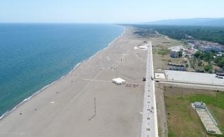 Çalışmalar sona geldi...Tamamlandığında Türkiye'nin en uzun plajı olacak