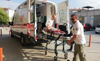 Mobilya imalathanesinde iş kazası: 1 yaralı
