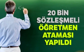 20 bin sözleşmeli öğretmen ataması yapıldı