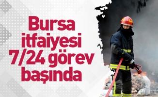 Bursa Büyükşehir Belediyesi İtfaiyesi 7/24 görev başında