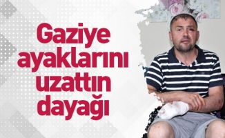 Bursa'da gaziye, ayaklarını uzattın dayağı