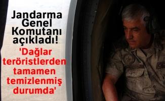 Jandarma Genel Komutanı Orgeneral Arif Çetin: 'Dağlar teröristlerden tamamen temizlenmiş durumda'