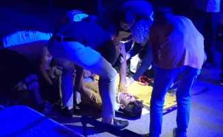 Kamyonetle çarpışan kardeşler ağır yaralandı