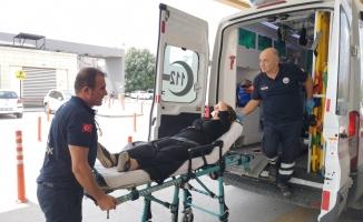 Motosikletin Çarptığı Kadın Yaralandı