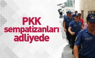 PKK sempatizanları adliyede