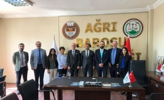 AB Delegasyonu'ndan Ağrı Barosu'na ziyaret