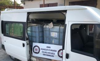 Adana'da 3 bin litre kaçak akaryakıt ele geçirildi