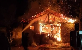 Aslanapa'da yangın: 1 yaralı
