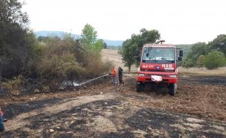 Bilecik'te anız yangını