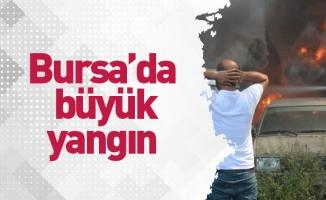 Bursa'da yed-i emin deposunda büyük yangın