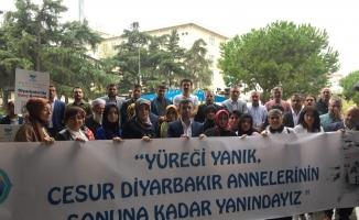 Bursa'dan Hacire Akar'a destek