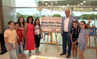Çocuklar, Kula-Salihli Jeoparkı'nı eserlerinde yaşattı