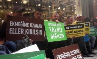 İBB'den çıkartılan işçiler CHP İstanbul İl Başkanlığı önünde eylem yaptı