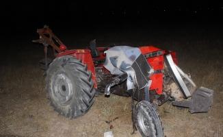 Kazada ağır yaralanan traktör sürücüsü hayatını kaybetti