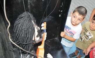 Kuklalar Lüleburgazlı çocukların ilgi odağı