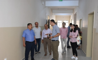Nusaybin'de TOKİ tarafından yapılan ilkokul ve ortaokul eğitime hazır