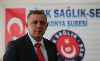 """Türk Sağlık Sen Konya Şube Başkanı Töke: """"Sıfır zamma imza atarak süreci bitirdiler"""""""
