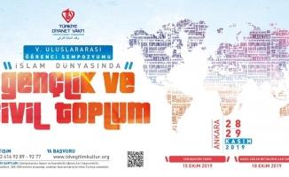 """Türkiye Diyanet Vakfı'ndan, """"İslam Dünyasında Gençlik ve Sivil Toplum"""" sempozyumu"""