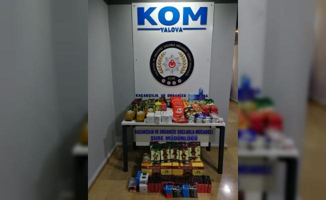 Yalova'da kaçak sigara operasyonu