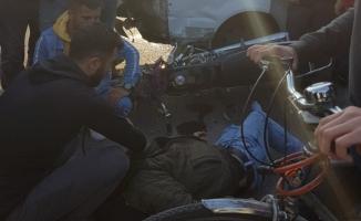 İnegöl'de feci kaza! Motosikletle otomobil çarpıştı