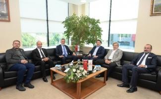 Başkan Burkay, Bursaspor yönetimini ağırladı