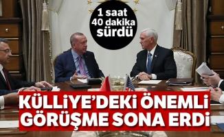 Cumhurbaşkanı Erdoğan-Pence görüşmesi sona erdi