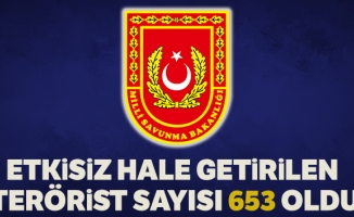 MSB: 'Barış Pınarı Harekâtı'nda etkisiz hale getirilen PKK/YPG'li terörist sayısı toplam 653 oldu'
