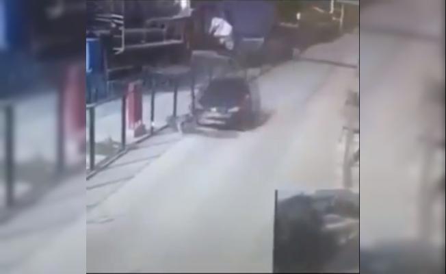 Vicdansız sürücü yolun kenarında duran köpeği böyle ezdi