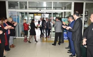 Ankara'dan dönen başkan Kanar'a, Mustafakemalpaşa'da coşkulu karşılama