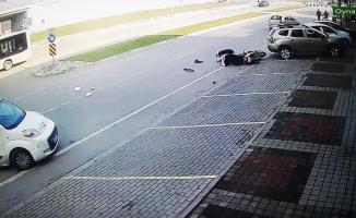 Dehşet veren kaza anı kamerada