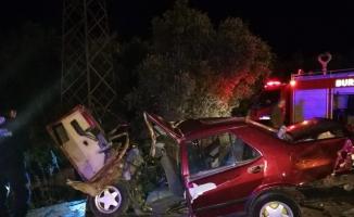 İznik'te feci kaza: 1 ölü, 3 yaralı
