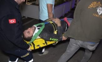 Mağaza tadilatında çalışan genç işçi yüksekten düşerek yaralandı