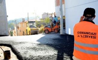 Osmangazi'den Ovaakça ve Panayır'da asfalt çalışması