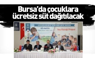 Bursa'da çocuklara ücretsiz süt dağıtılacak