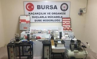 Bursa'da dev kaçakçılık operasyonu