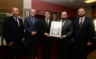 Karadağ Diyanet İşleri Başkanı'ndan Dündar'a ziyaret