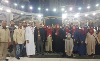 Bursalı umrecilerden Kabe'de deprem duası