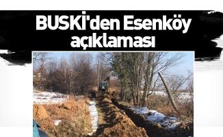 BUSKİ'den Esenköy açıklaması