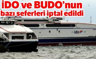 İDO ve BUDO'nun bazı seferleri iptal edildi