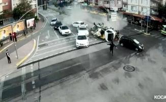 Mobese kameralarına yansıyan kazalar, 'bu kadar da olmaz' dedirtti