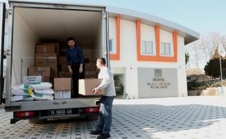 Nilüfer Belediyesi'nden depremzedelere yardım