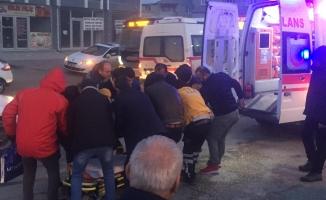 Otomobilin çarptığı kadın, ağır yaralandı