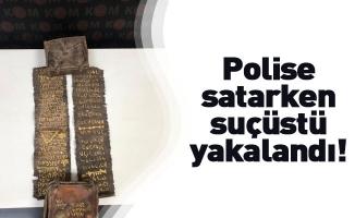 Polise satarken suçüstü yakalandı: Ceylan derisi üzerine yazılmış Tevrat ele geçirildi