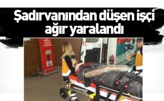 Şadırvanından düşen işçi ağır yaralandı