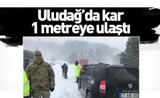 Uludağ'da kar 1 metreye ulaştı